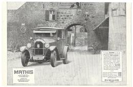 1926 Mathis Usines Strasbourg (Automobile - Voiture Ancienne - Publicité - Pub - Piano Pneumatique Odeola) - Pubblicitari