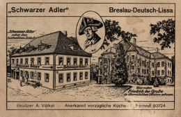 POLSKA - POLAND - WROCLAW - BRESLAU, Pension-Restaurant SCHWARZER ADLER - Pologne