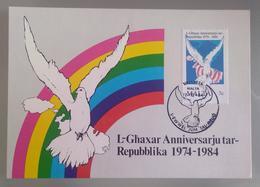 MALTA 1984 MAXIMUM CARD REPUBLIC ANNIVERSARY - Malta