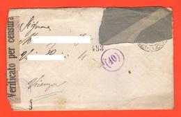 Italia Prisoners Of War Lettera Prigionieri Di Guerra Letter Prisonniers De Guerre Da Viareggio A Vicenza  1942 - Dokumente