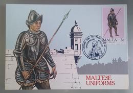 MALTA 1987 MAXIMUM CARD UNIFORMS - Malta