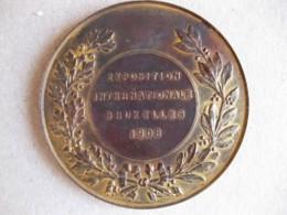 Médaille Exposition Internationale Bruxelles 1908. Leopold II. - Belgique