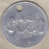 Jeton Mines. Gard. LAMPISTERIE H.B.C Houillères Du Bassin Des Cévennes. Contremarque 1581, En Aluminium. - Professionnels / De Société