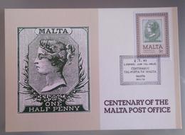 MALTA 1985 MAXIMUM CARD 100 POST OFFICE - Malta