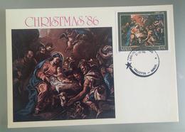 MALTA 1986 MAXIMUM CARD CHRISTMAS - Malta
