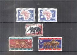 Ruanda-Urundi - 217/18 + 224 + 216A/B - Séries Complètes - X/MH - 1948-61: Neufs