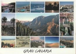 Cartolina Dalla Spagna (Gran Canaria, Panorami) Per Fara Vicentino (vedi Foto) - Gran Canaria