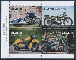 ALAND/Alandinseln 2018 Motorcycles, Set Of 4v**from Booklet - Aland