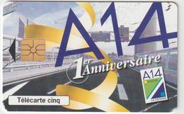 Télécarte  Privée  5 Unitées : A 14  Gn412  Cote  18 Euros - France