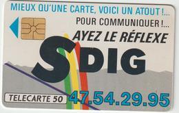 Télécarte  Privée  SDIG  D 184  Cote  50 - France
