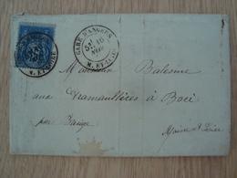 ENVELOPPE + LETTRE NOVEMBRE 1880 M. ET LOIRE - Marcophilie (Lettres)