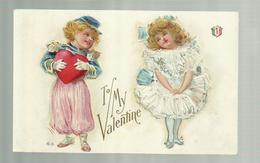 "-*1 X  TO  MY  VALENTINE   . .    * -"""" CARTE  GAUFREE-EMBOSSED  CARD-GEPRÄGTE  KARTE """"- - Saint-Valentin"