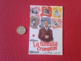 SPAIN PROGRAMA DE CINE FOLLETO MANO OLD CINEMA PROGRAM PROGRAMME FILM PELÍCULA LA FAMILIA CROMPTON JAMES MASON VER FOTO - Cinema Advertisement
