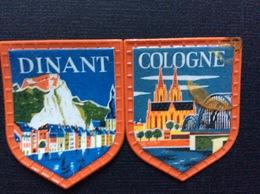 2 FANIONS SOUVENIR  *Dinan  *Cologne  CAFÉ MAURICE - Reclame