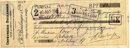 56  ROHAN  Mandat à Ordre  Bijouterie Mr  COCO  1937 - France