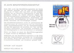 1985  25 J. Berufsförderungsinstitut FDC Karte (ANK 1835, Mi 1804) - FDC