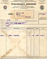 56 ROHAN Facture Ets KUHLMANN  Pour Mr COCO  1936 - France