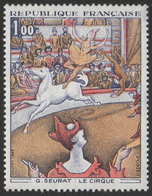 France Neuf Sans Charnière 1969 Le Cirque De Seurat YT 1588A - Impressionisme