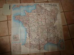 1919 Carte Kilométrique Nlle FRANCE Par Barrecchia (Départements,Communes,Ch. De F,Routes,Rivières,Canaux,Montagnes,etc) - Mappe