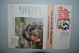 Poules De Chez Nous Amis De La Terre 1998 - Livres, BD, Revues