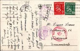! 1942, Finnland, Finland, Helsinki, Censor, Zensurpost, Censure, Fredericia, Denmark, Danmark, Dänemark - Finlande