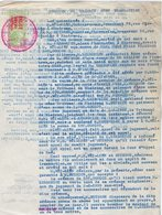 VP15.038 - INDOCHINE - VIETNAM - Lettre & Acte - Entre Mrs BUI - LIËN à NHATRANG & BUISSON Pharmacien - Factures & Documents Commerciaux