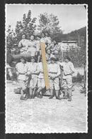 Cpa Genre Carte Photo 0620319 Section Sur Canon   75e Bataillon Alpin De Forteresse - Sospel