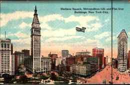 4457)  Cartolina Di New York- Madison Square,metropolitan Life And Flat Iron Building-viaggiata In Busta - NY - New York