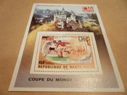 Miniature Sheet 1966 World Cup Final  Issued 1974 Munich Expo - Upper Volta (1958-1984)