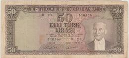 50 LIVRES 1964 - Turquie