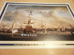 Miniature Sheet Rwanda 1977 Amphilex Port Of Amsterdam - Rwanda