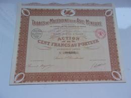 TABACS DE MACEDOINE ET D'ASIE MINEURE - Actions & Titres