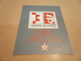 Miniature Sheet Yugoslavia 1986 13th Congress - 1945-1992 Socialist Federal Republic Of Yugoslavia