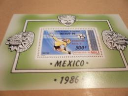 Miniature Sheet World Cup Football Perf Mexico 1986 - Mali (1959-...)