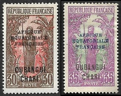 OUBANGUI-CHARI  1924-25  - YT   52 Et 53  - NEUFS* - Neufs