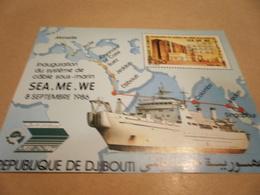 Miniature Sheet 1986 Djibouti Sea Communications - Djibouti (1977-...)