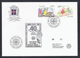 1989 ISLAND ISLANDE REYKJAVIK CEPT CONSEIL EUROPE 40 YEARS COUNCIL ANNIVERSAIRE EDITION LIMITEE TIRAGE 100 Ex - 1944-... Repubblica