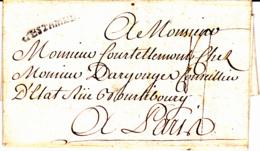 ETAMPES Lenain N°2 - Collection De Seine Et Oise - 1769 - Postmark Collection (Covers)