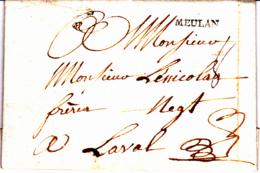MEULAN Lenain N°2 - Collection De Seine Et Oise - 1769 - Postmark Collection (Covers)