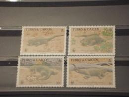 TURKS AND CAICOS - 1986 RETTILI 4 VALORI - NUOVI(++) - Turks & Caicos