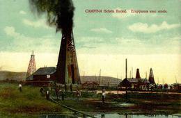 ROMANIA - OIL INDUSTRY - CAMPINA, (Schela Bucea) Eruptiunea Unei Sonde - Romania