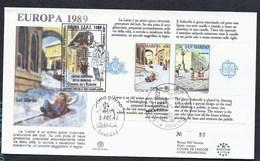 1989 SAN MARINO SAINT MARIN CEPT CONSEIL EUROPE 40 YEARS COUNCIL ANNIVERSAIRE EDITION LIMITEE TIRAGE 100 Ex BOBSLEIGH - Lettres & Documents