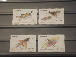 ZAMBIA - 1989 INSETTI 4 VALORI - NUOVI(++) - Zambia (1965-...)