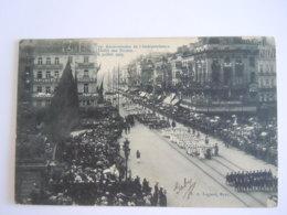 Bruxelles 1905 75e Anniversaire De L'indépendance Défilé Des écoles Circulée Edit N. 8 Lagaert - Bruxelles-ville