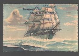 Middelkerke - Bonjour De Middelkerke - Uitgave Coloprint - Zeilboot / Voilier - Middelkerke