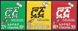 Ethiopia, Scott # 522-4 MNH Postal Service Anniv., 1969 - Ethiopia