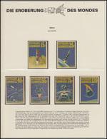 Gabun: Weltraumfahrt Apollo 14 - Flugphasen Und Mondlandung, 6 Marken ** - Astronomie