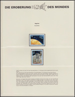 Algerien: Weltraumfahrt Mondlandung & Mondlandefähre, 2 Marken **  - Astronomie