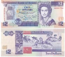Belize - 2 Dollars 1991 UNC Lemberg-Zp - Belize