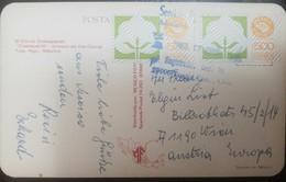 O) 1988 MEXICO, MEXICO EXPORTA COTTON SCT 1138 500p -COATEPANTLI - KNOW AS THE CORRAL POSTAL CARD TO AUSTRIA, XF - Mexico